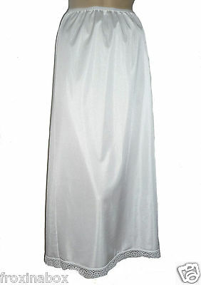 """Ivory Maxi Half Slip 37"""" Inches Length Size 20/22 Cling Resist Long Underskirt"""