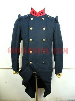 WW1 French Army M1877 Iron Blue Wool M1877 Overcoat ( la Capote 1877) Size M