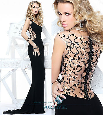 Black Sexy Formal Evening Dresses Prom Party Gown Cocktail Women's Wedding Dress