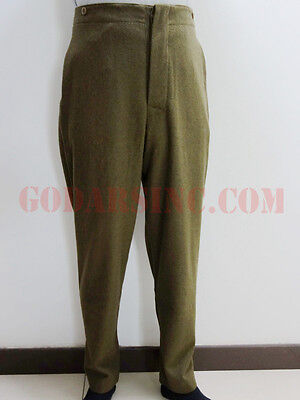WW1 Canadian Army Brown-green Wool Servie Dress SD trousers XL