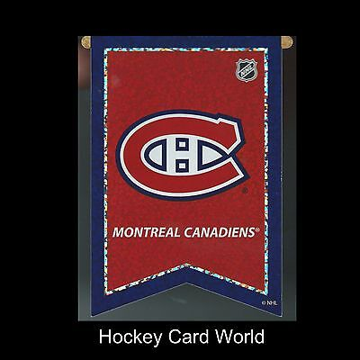 """(HCW) Montreal Canadiens 3""""x4"""" NHL Licensed Banner Sparkle Decal Sticker"""
