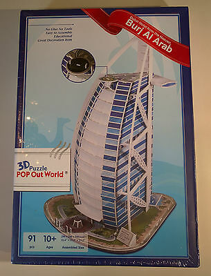Burj Al Arab 3D Puzzle POP Out World - BRAND NEW & SEALED - FREE SHIPPING