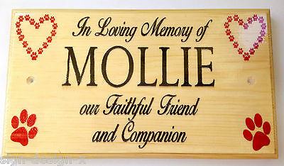 Large In Loving Memory Plaque / Sign - Dog Pets Memorial Friend Companion
