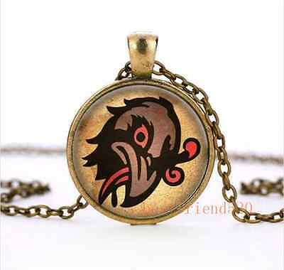 Bioshock infinite Murder of Crows Vigor Cabochon Glass Bronze Necklace