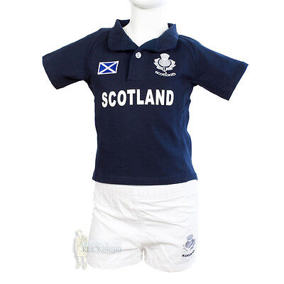 Chidrens Rugby Kit - Scotland - Navy - Sizes To Fit Ages 0 To 8Yrs!