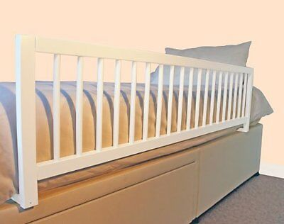Safetots Extra Wide Wooden Bed Guard White