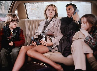 "MICHELLE PFEIFFER & GEORGE CLOONEY in ""One Fine Day"" - Orig. 35mm SLIDE - 1996"
