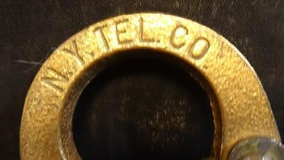 Extremely rare New York telephone company vintage padlock made by Corban WWII.