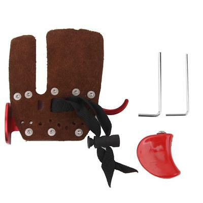 Red Cow Leather Hunting Shooting Archery RH Finger Protector Tab Guard Glove