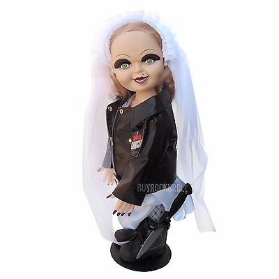 """Bride of Chucky Collectible:2015 Universal Studios 26""""Tiffany Plush Doll & Stand"""