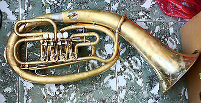 Antique Vintage Tuba AMATI Kraslice Collectible Brass Musical Instrument