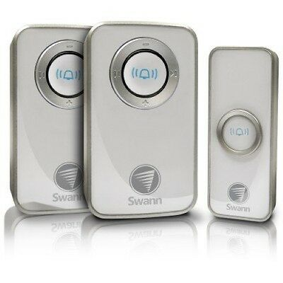 Swann Wireless Door Bell / Chime with Mains Power & 2 Receivers SWHOM-DC820P2