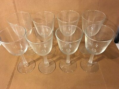 Wine Glass Lot Of 8 Glasses Unique Stem