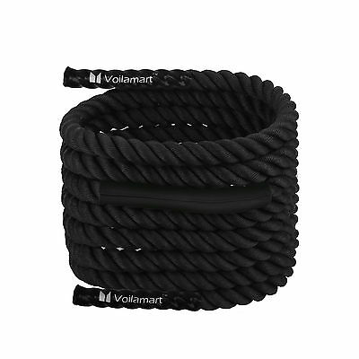 9m Pro Battle Rope Training Bootcamp Power Sport Exercise Battling Fitness 38mm