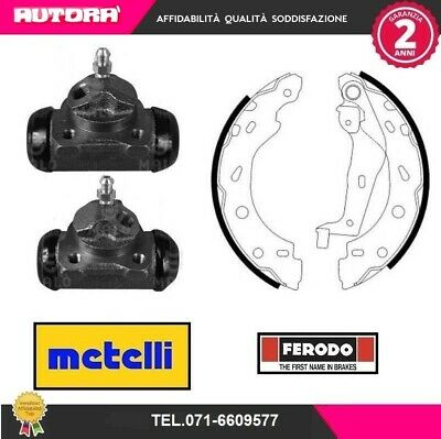 Kit28 2 Cilindretti+4 Ganasce Smart Fortwo Coupe 07.98> (Marca Ferodo+Metelli)