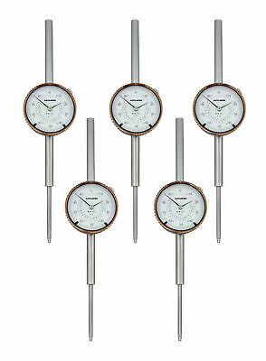 5 ps 0-2'' x 0.001'' Dial Indicators, AGD2 Style with Lug Back, #P900-S103x5