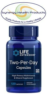 Life Extension Two-Per-Day Capsules - 120 - High Potency Multivitamin & Mineral