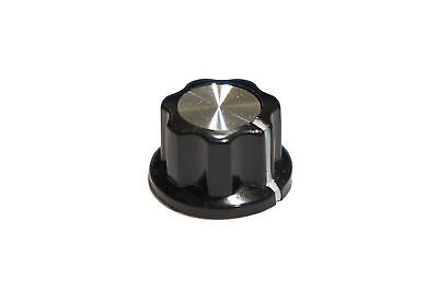 """Fluted Metal Top Knob for Custom DIY Effects or Boss Pedals fits1/4"""" Knob Shaft"""