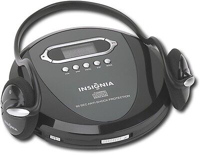 Insignia Portable CD Player with Skip Protection, CD-R, CD-RW with Headphones