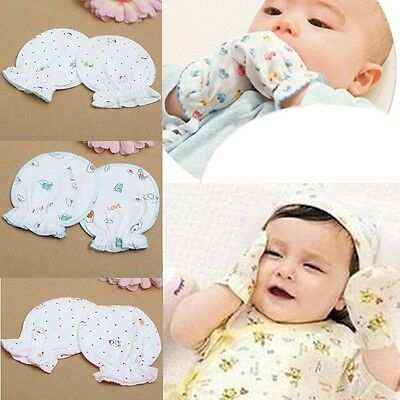 Newborn Baby Infant Soft Cotton Handguard Anti Scratch Mittens Gloves