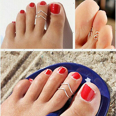 Fashion Silver Toe Ring Foot Beach Jewelry Metal Adjustable Open Jewelry Brand