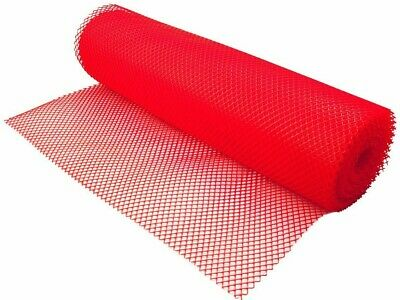 Red Bar Pub Shelf Liner Glass Matting Mesh - 10 Metre Roll