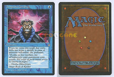 MTG MAGIC Tempesta Cerebrale Brainstorm Italiana Era Glaciale Ice Age MINT 1995