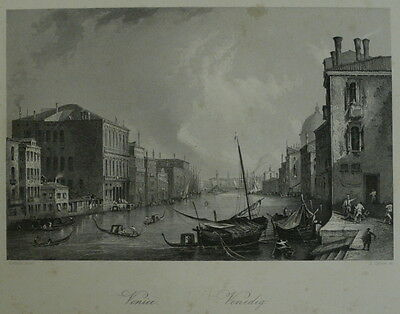 Carse, A. nach Giovanni Antonio Canal (Canaletto) - Stahlstich Venedig um 1850