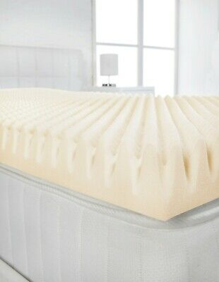 "3"" Extra Deep Double Bed Size Memory Foam Mattress Topper (Profile / Egg Shell)"