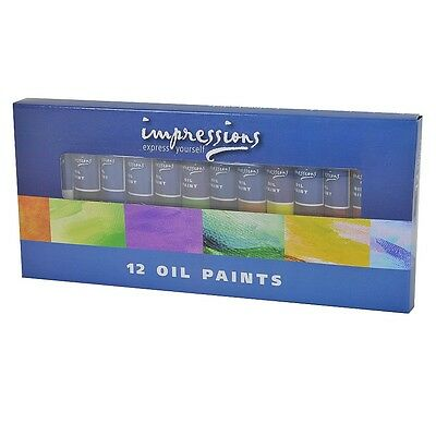 12 x Impressions Oil Paints (Superior Pigment for Professional Artists)