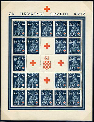CROATIA 1941 Red Cross set in complete sheets MNH / **