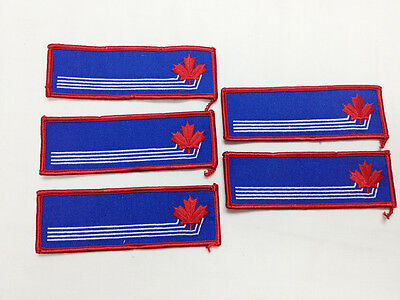 Canadian Military RCAF Air Force Name Tape Patch Red & Blue Maple Leaf