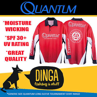 Quantum Long Sleeve Tournament Fishing Shirt- Large