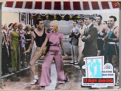 WL23 THE GAY DIVORCEE FRED ASTAIRE GINGER ROGERS rare Big SPANISH Lobby Card C