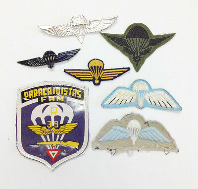 International Military Assorted Airborne Parachutist Wings Collection (7 Piece)