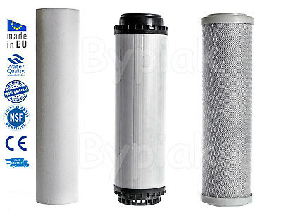 "10"" HMA Water Filter Replacement Set - Sediment GAC KDF Activated Carbon Block"