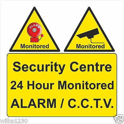 CCTV IN OPERATION security center 24 hour monitored alarm and cctv sign