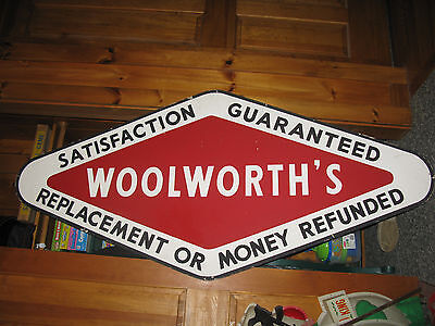 Vintage Woolworth's Department Store Advertising Sign