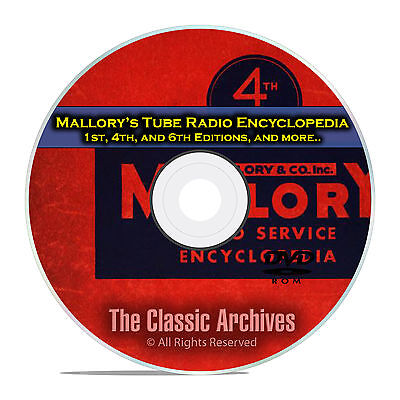 Mallory's Tube Radio Encyclopedia, 1st, 4th, 6th Editions, OTR Rider DVD CD E31