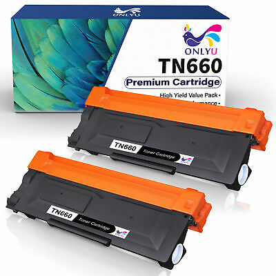 2 High Yield TN660 Black Toner Cartridge For Brother MFC-L2740DW L2700DW Printer