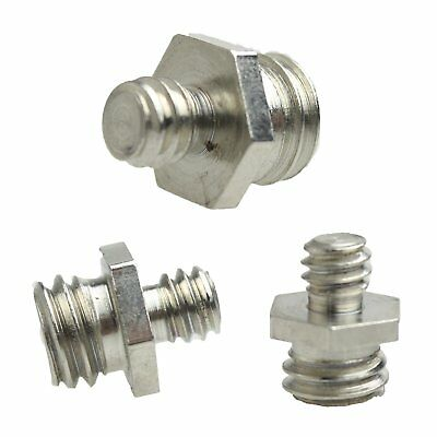 "1pcs Hexagon Male to Male 1/4"" to 3/8"" Threaded Screw Adapter Camera Trip 61# ne"