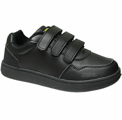 New Boys Black School Kids Skate Boots Trainers Girls School Shoes Sizes