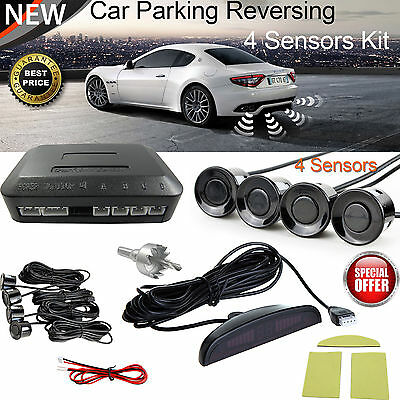 New Car Rear Reverse 4 Parking Sensors LCD Display Reversing Buzzer Alarm Kit