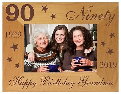 90th BIRTHDAY GIFT PERSONALISED PHOTO FRAME MUM DAD GRANDPA GRANDMA AUNT UNCLE