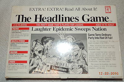 """Rare  New Sealed """"the Headlines Game""""! Party Game From Bicycle Games Mint!"""