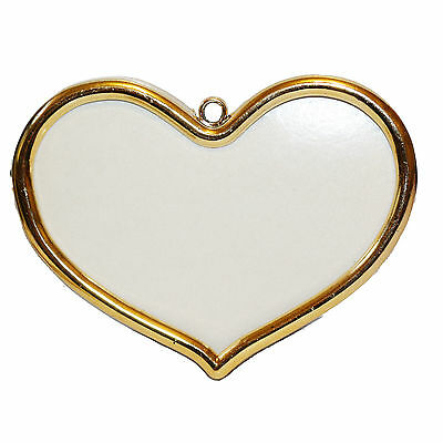 One Vervaco golden plastic cross stitch frame - Heart of Gold - 8cm x 5cm