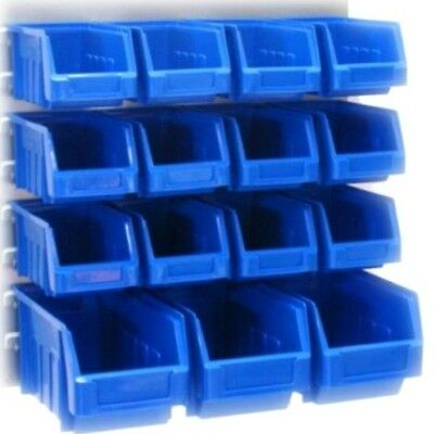 Quality Plastic Parts Bins Kit Stacking Powder Coated Steel Louvrewall Panel