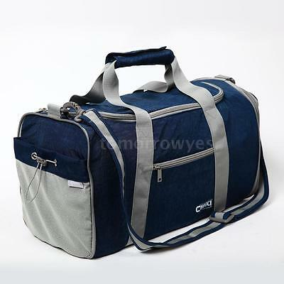 Navy Blue Holdall Gym Shoulder Bag Duffle Sport Bag Travel Carry on Luggage Bag
