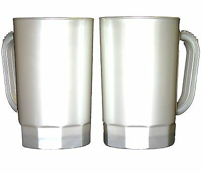 Beer Mugs, 1 Pint, Pack 10, Pearl White, Made in USA, Dishwasher Safe, No BPA