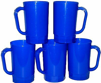 75 Blue Beer Mugs, Size 1 Pint Made in USA, Lead Free, Dishwasher Safe.No BPA